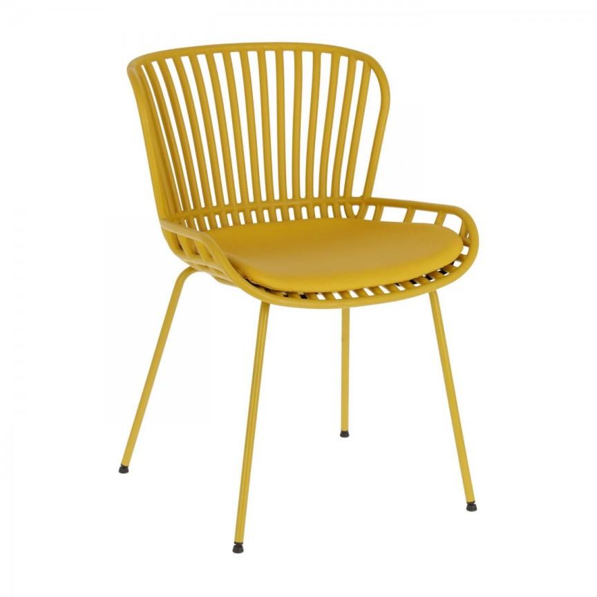 Scaun elegant design modern galben Surpik CC1745S31 JG, Scaune dining ,  a