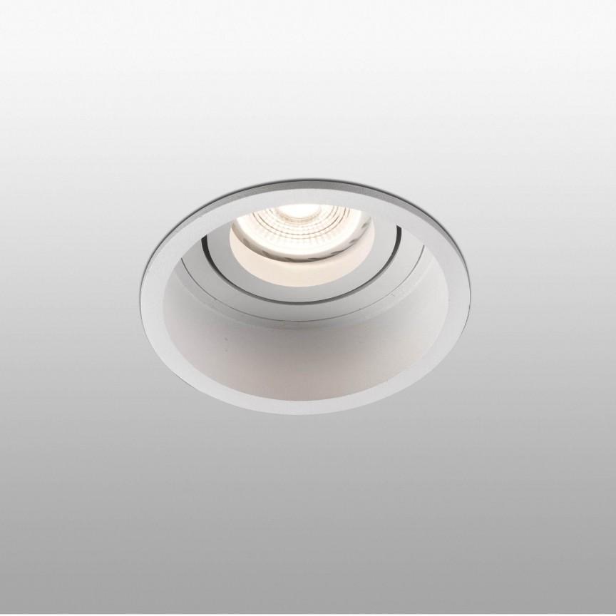 Rama spot incastrabil tavan fals HYDE IP44 White orientable round 40118, Aplice pentru baie / oglinda / tablou, LED⭐ modele moderne rezistente la apa potrivite in baie. ✅Design premium actual Top 2020! ❤️Promotii lampi❗ ➽ www.evalight.ro. Alege oferte la corpuri de iluminat interior pt perete baie si tavan (plafon) cu protectie la umiditate, ieftine sau de lux, calitate deosebita la cel mai bun pret! a