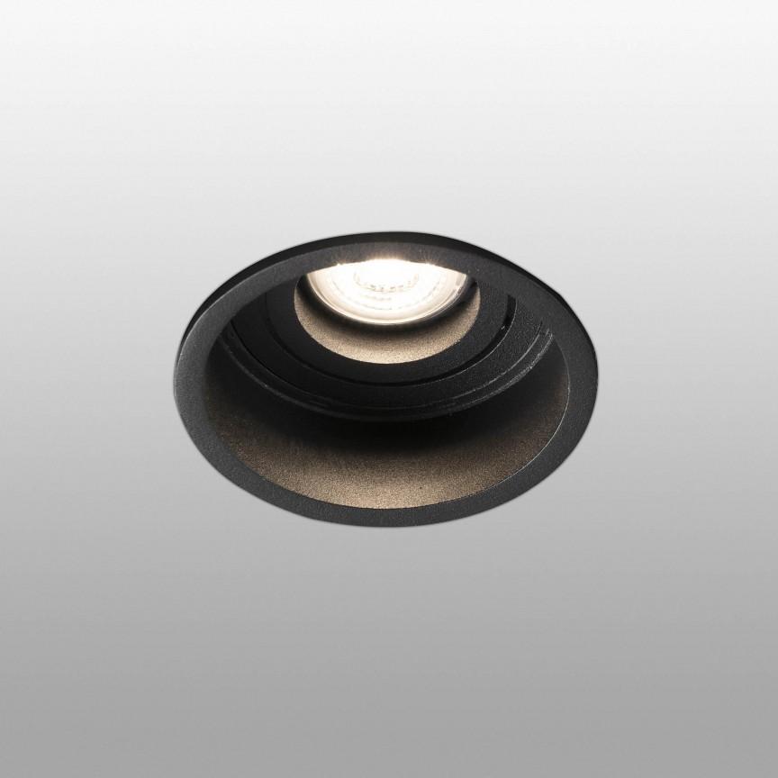 Spot incastrabil tavan fals IP44 HYDE Black orientable round 40119, Spoturi incastrate - tavan fals / perete,  a
