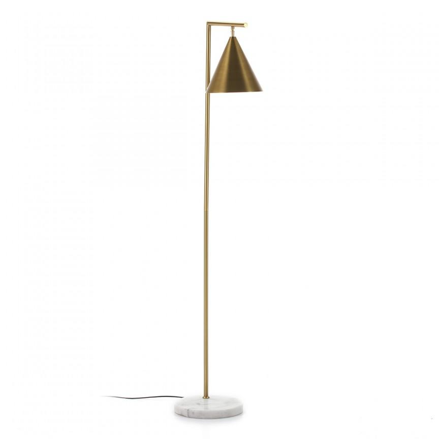 Lampadar/ Lampa de podea design minimalist Golden/White 62717/00 TN, Lampadare,  a