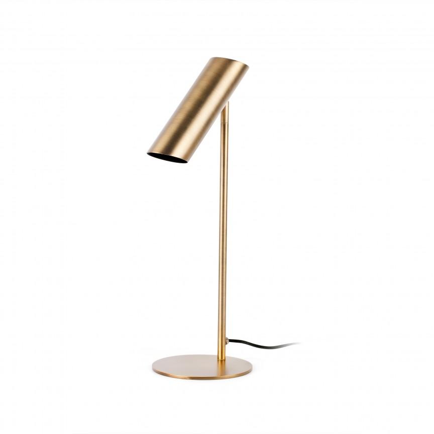 Lampa de masa design modern minimalist LINK III bronz, Veioze, Lampi de masa,  a