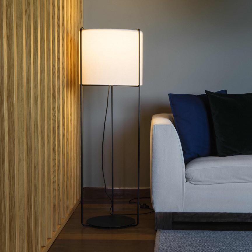 Lampa podea / Lampadar modern design elegant DRUM bej, Lampadare,  a