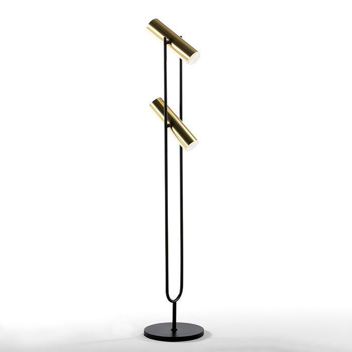 Lampadar/ Lampa de podea design industrial Gold/ Black, H-120cm 18212/00 TN, Lampadare,  a