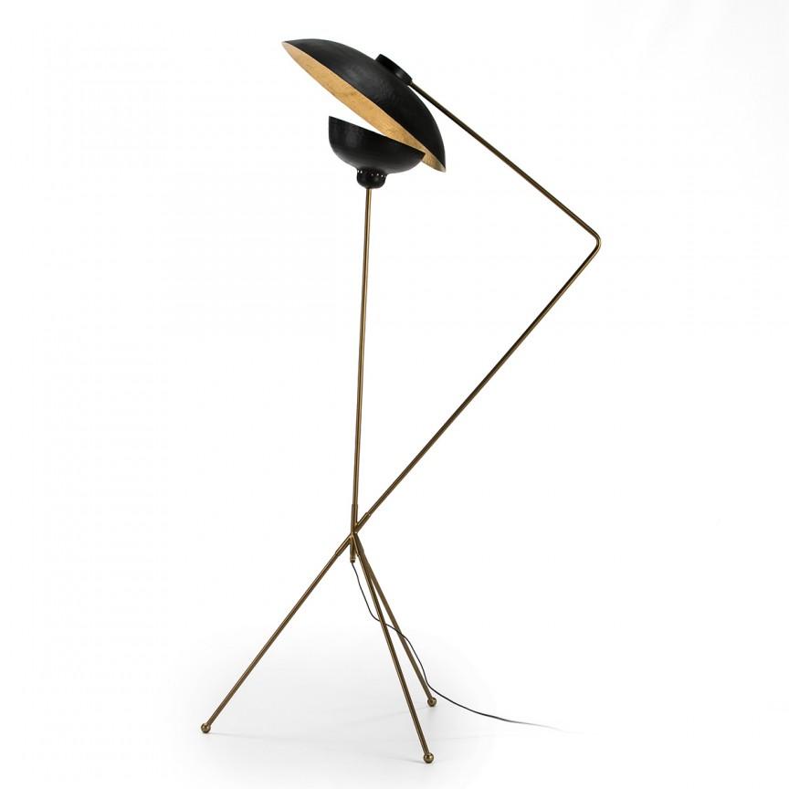 Lampadar/ Lampa de podea design industrial Golden/ Black 66102/00 TN, Lampadare,  a