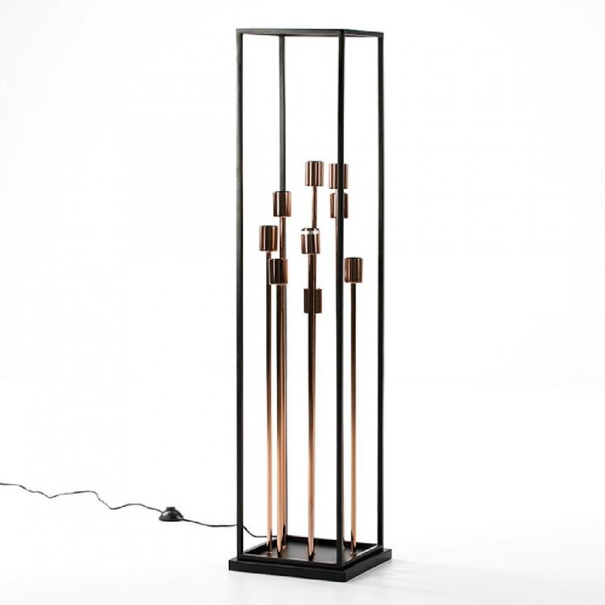Lampadar/ Lampa de podea design elegant Black/ Copper 65794/00 TN, Lampadare,  a