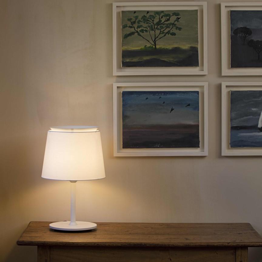 Lampa de masa / Veioza moderna design elegant SAVOY alba, Veioze, Lampi de masa,  a