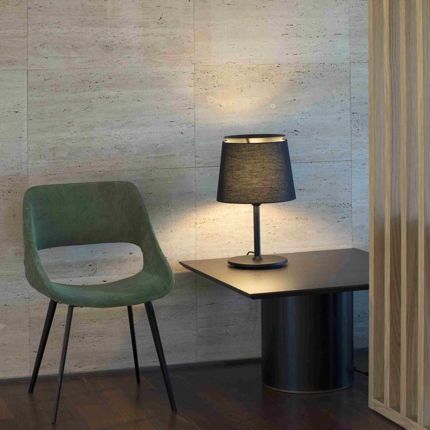 Lampa de masa / Veioza moderna design elegant SAVOY neagra, Veioze, Lampi de masa,  a