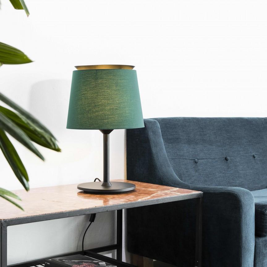 Lampa de masa / Veioza moderna design elegant SAVOY negru/verde, Magazin,  a