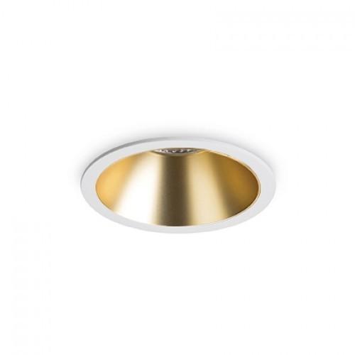 Spot LED incastrabil GAME FI1 ROUND alb / auriu 192307 IDL, Spoturi incastrate tavan / perete, LED⭐ modele moderne potrivite pentru baie, mobila bucătărie, hol, living si dormitor.✅ Design actual 2020!❤️Promotii lampi❗ ➽ www.evalight.ro. Alege oferte la corpuri de iluminat interior incastrat cu montare in tavanul fals rigips, (rotunde si patrate), ieftine de calitate la cel mai bun pret. a
