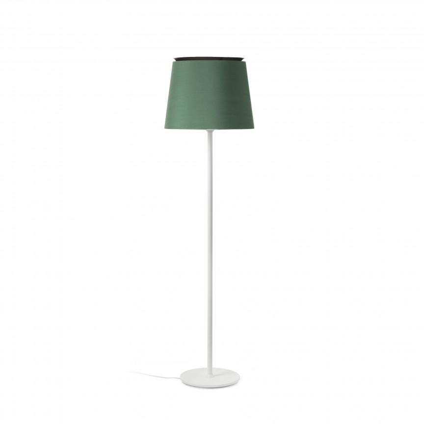 Lampadar / Lampa de podea moderna design elegant SAVOY alb/verde, Lampadare,  a