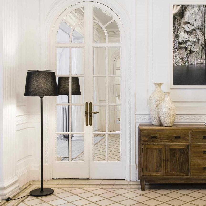 Lampadar / Lampa de podea moderna design elegant SAVOY neagra, Lampadare,  a