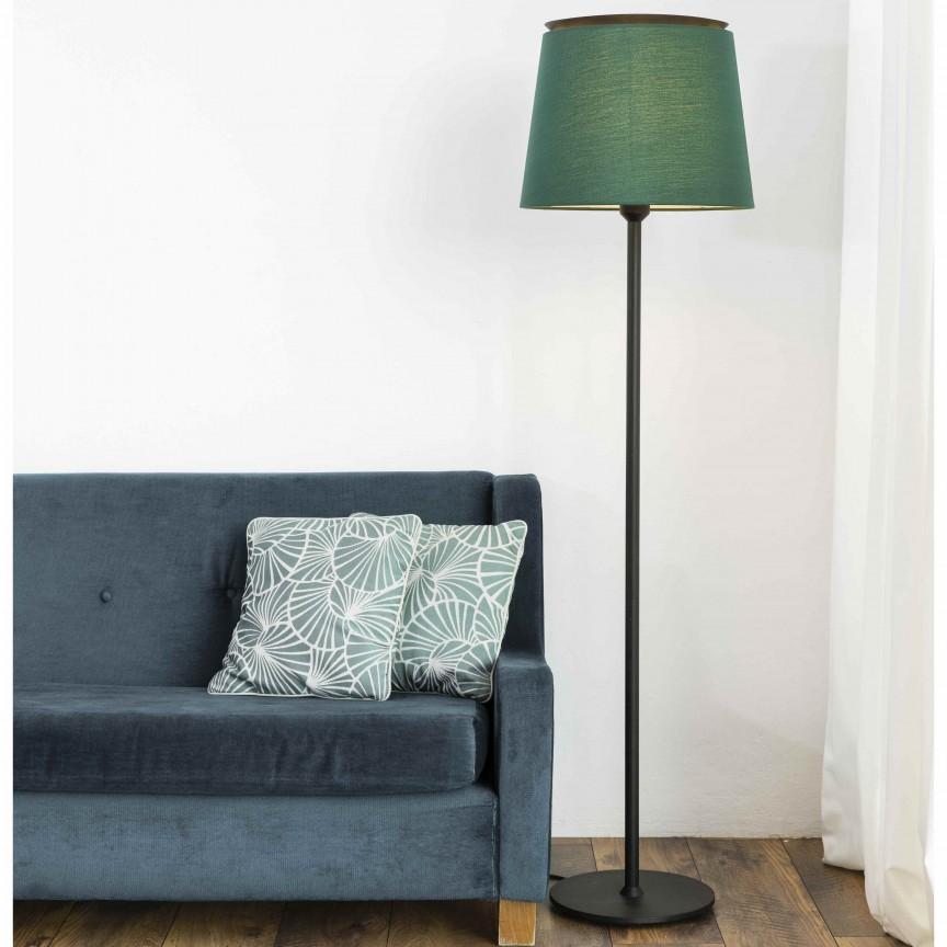 Lampadar / Lampa de podea moderna design elegant SAVOY negru/verde, Lampadare,  a