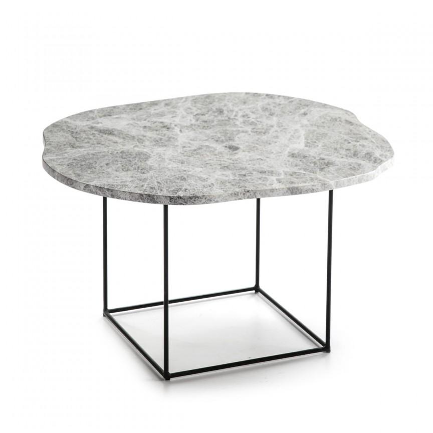 Masuta laterala design deosebit Marble Grey H-35cm 40469/00 TN, Masute de cafea,  a