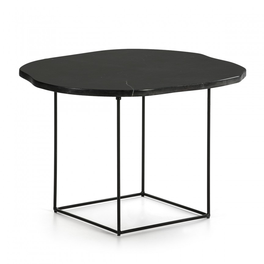 Masuta laterala design deosebit Marble Black H-40cm 40470/00 TN, Masute de cafea,  a