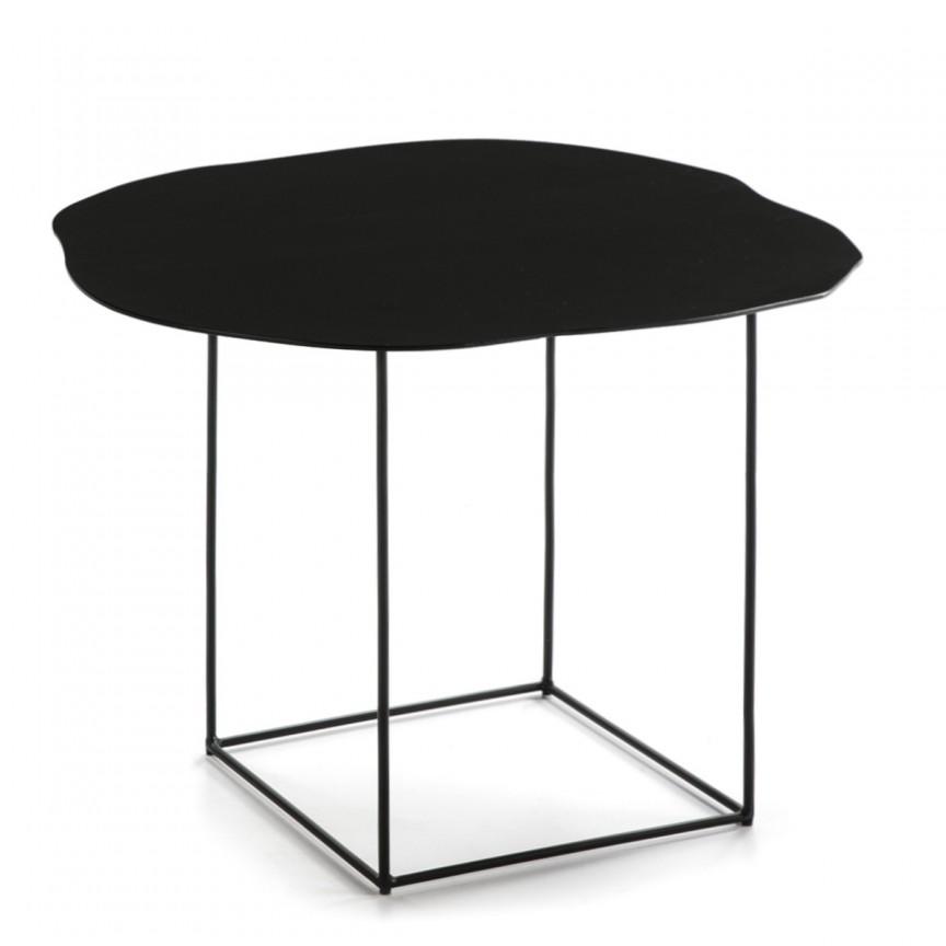 Masuta laterala design deosebit Metal Black H-45cm 40476/00 TN, Masute de cafea,  a