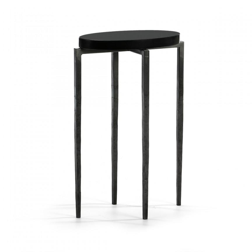 Masuta laterala eleganta design deosebit Black 68395/00 TN, Masute de cafea,  a