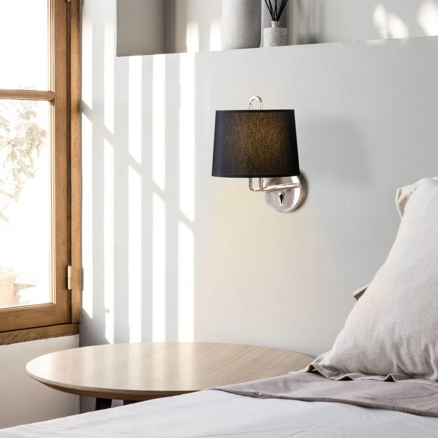 Aplica de perete moderna design elegant MONTREAL crom/negru, Aplice de perete moderne,  a
