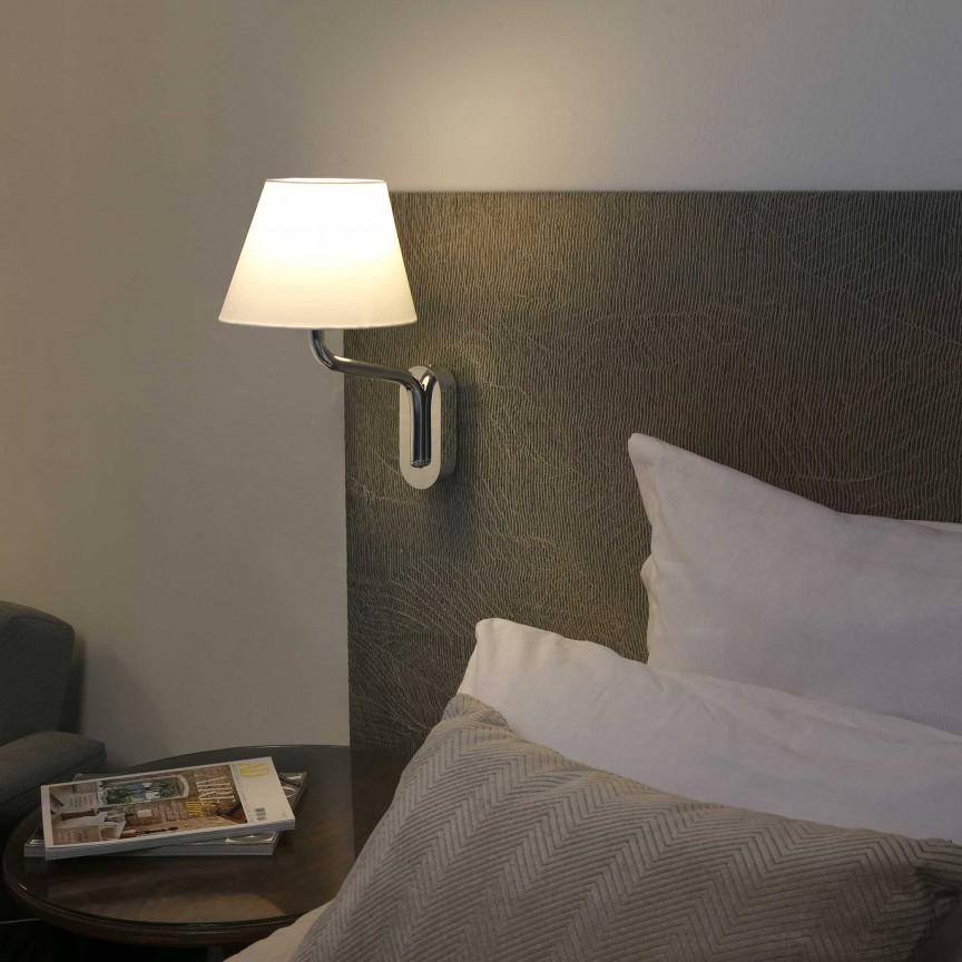 Aplica de perete moderna design elegant ETERNA crom/alb, Aplice de perete moderne,  a