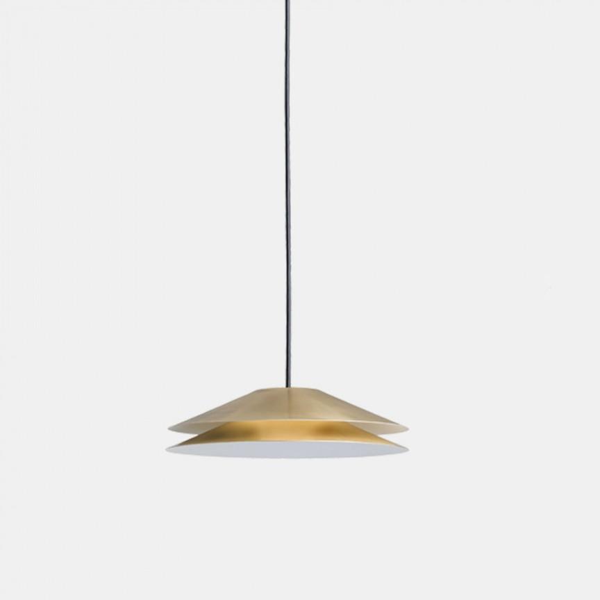 Lustra LED design LUX, fabricat manual din alama BAGAN Ø230 281.02.ON, Lustre LED, Pendule LED,  a