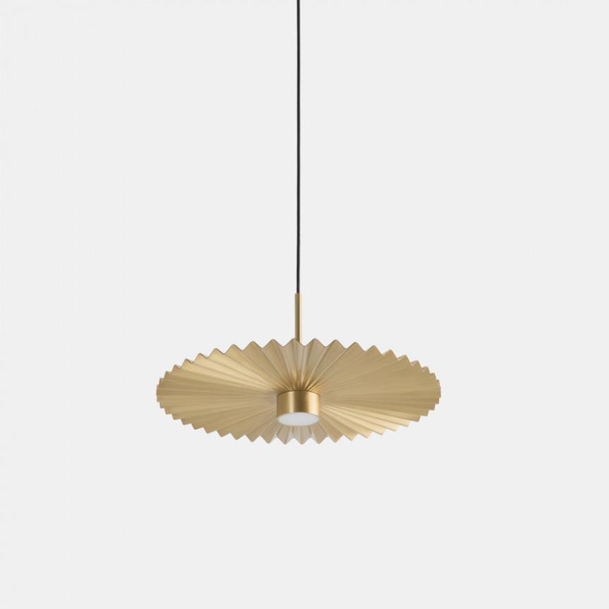 Lustra LED design LUX abajur cu efect plisat PLIE' 39cm 284.01.ON, Lustre LED, Pendule LED,  a