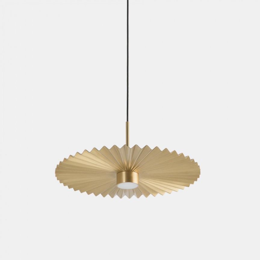 Lustra LED design LUX abajur cu efect plisat PLIE' 49cm 284.02.ON, Lustre LED, Pendule LED,  a