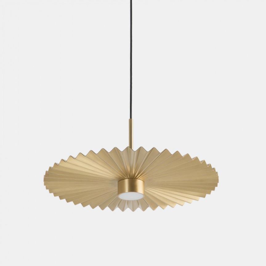 Lustra LED design LUX abajur cu efect plisat PLIE' 59cm 284.03.ON, Lustre LED, Pendule LED,  a