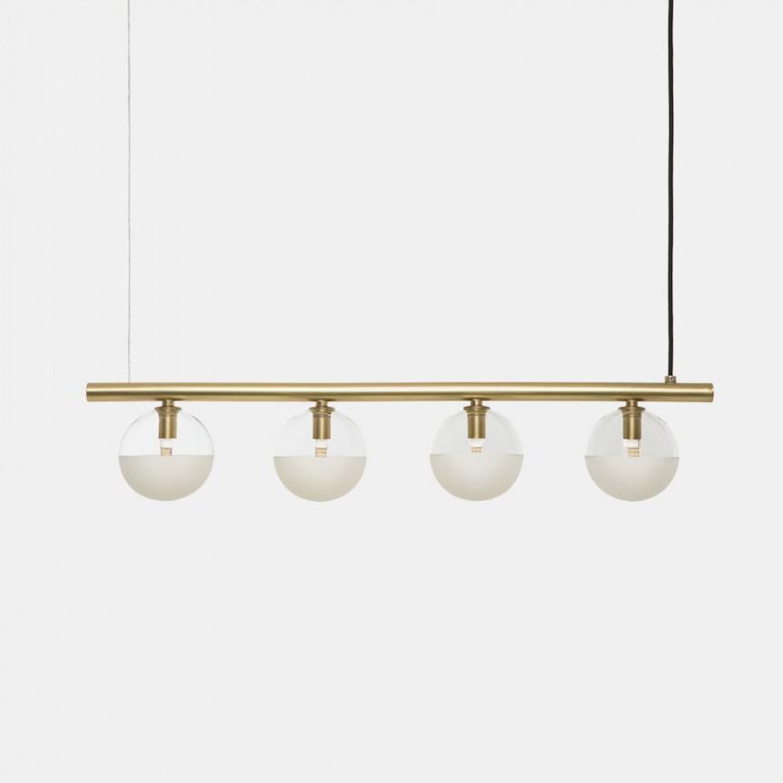 Lustra design minimalist Molecola 4L, Candelabre, Lustre moderne,  a