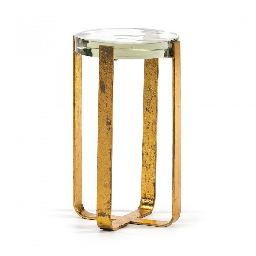 Masuta auxiliara design modern Bella, auriu 66104/00 TN, Mobila si Decoratiuni,  a