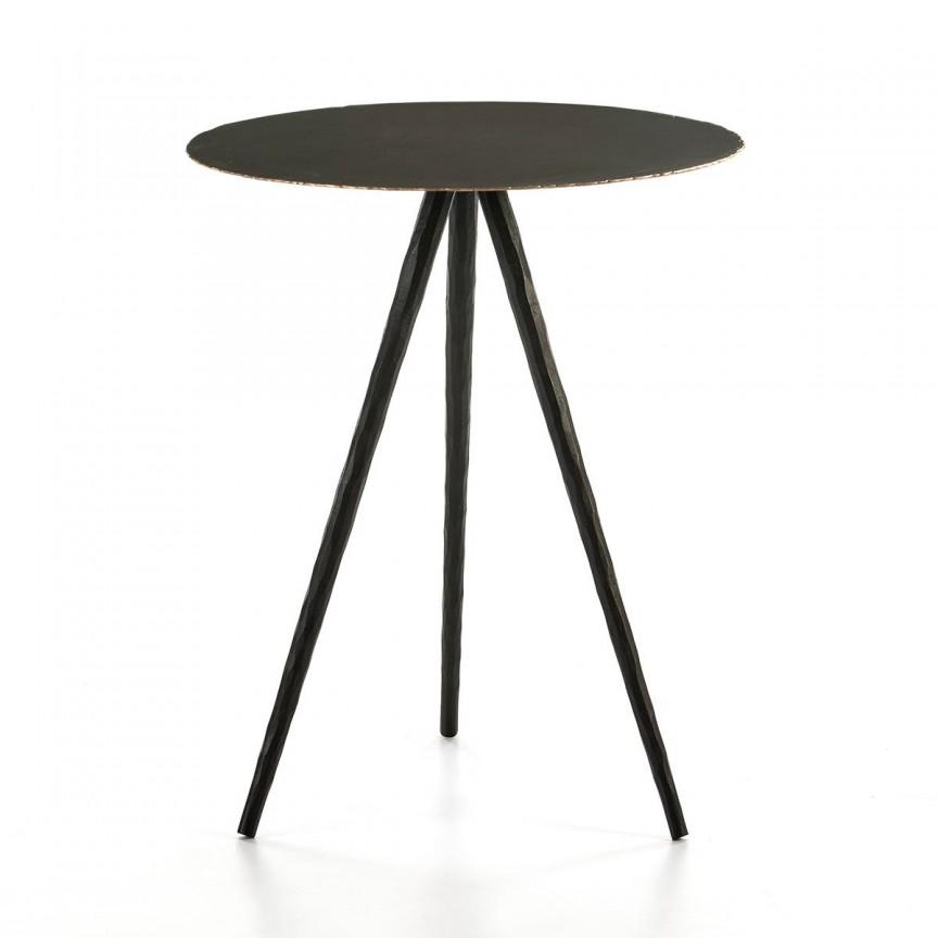Masuta laterala design industrial Negro, diam.46cm 66561/00 TN, Masute de cafea,  a