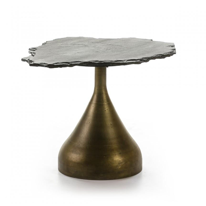 Masuta laterala design deosebit Stone Black 66570/00 TN, Masute de cafea,  a