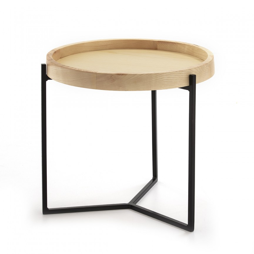 Masuta auxiliara design modern Wood Natural, diam.45cm 10400/00 TN, Mobila si Decoratiuni,  a