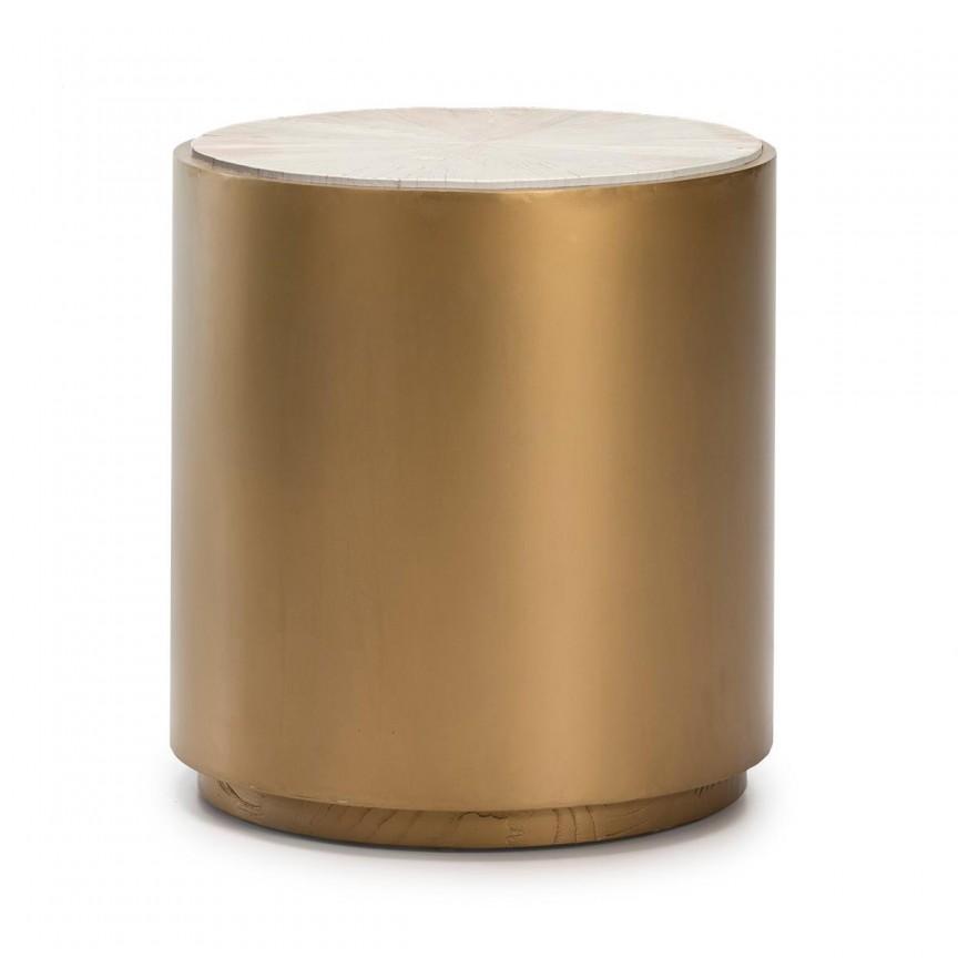 Masuta laterala design elegant Gold, diam.55cm 16016/00 TN, Mobila si Decoratiuni,  a