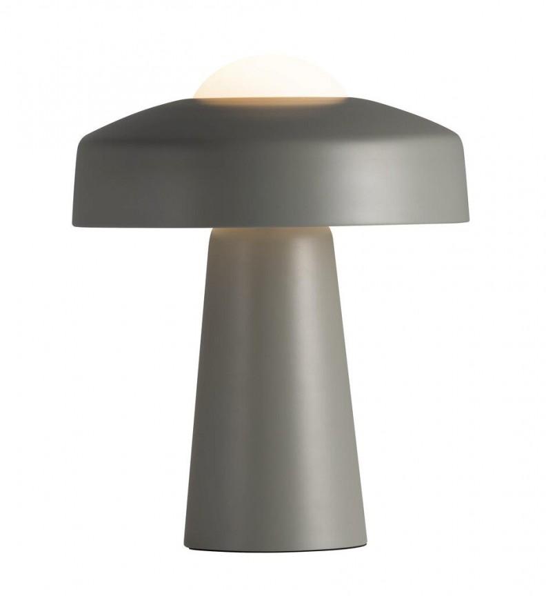 Veioza moderna design ciuperca Time gri 2010925010 NL, Veioze, Lampi de masa,  a
