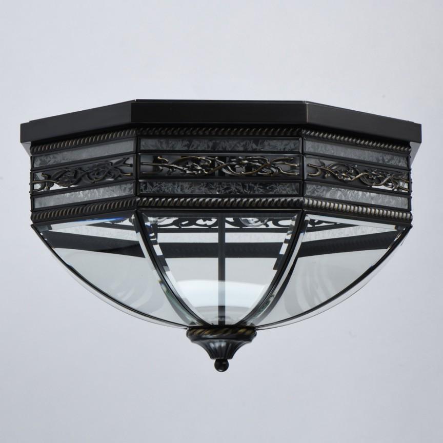 Plafoniera vintage de exterior design elegant de lux IP44 Street Corso 801010806 MW, Plafoniere de exterior LED⭐modele clasice, rustice, moderne potrivite pentru iluminare casa, terasa si balcon.✅Design premium actual Top 2020!❤️Promotii Lampi de exterior❗ ➽ www.evalight.ro. Alege oferte la corpuri de iluminat decorative pt tavan sau perete rezistente la apa, (solare cu senzori de miscare si becuri economice cu LED), din metal antichizat, fier forjat, lemn, abajur sticla decorata cu stil vintage, industrial, ieftine si de lux, calitate deosebita la cel mai bun pret. a