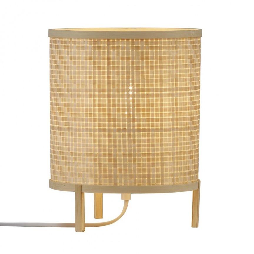 Veioza design natural din bambus Trinidad 2011135015 NL, Veioze, Lampi de masa,  a
