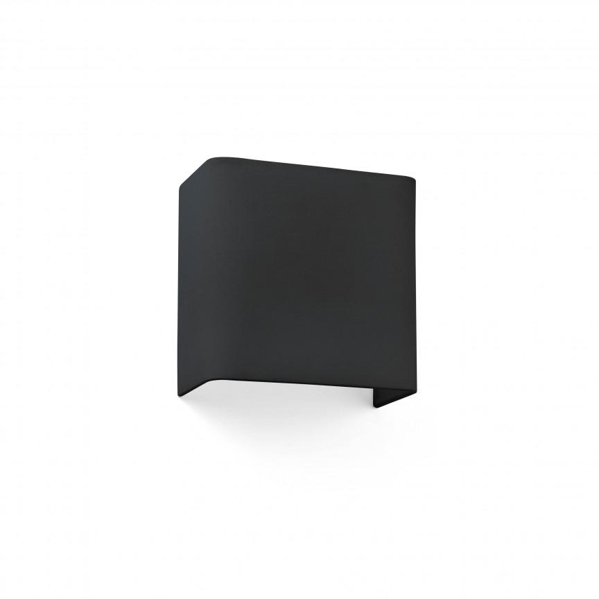 Aplica de perete ambientala design modern COTTON Square neagra, Aplice de perete moderne,  a