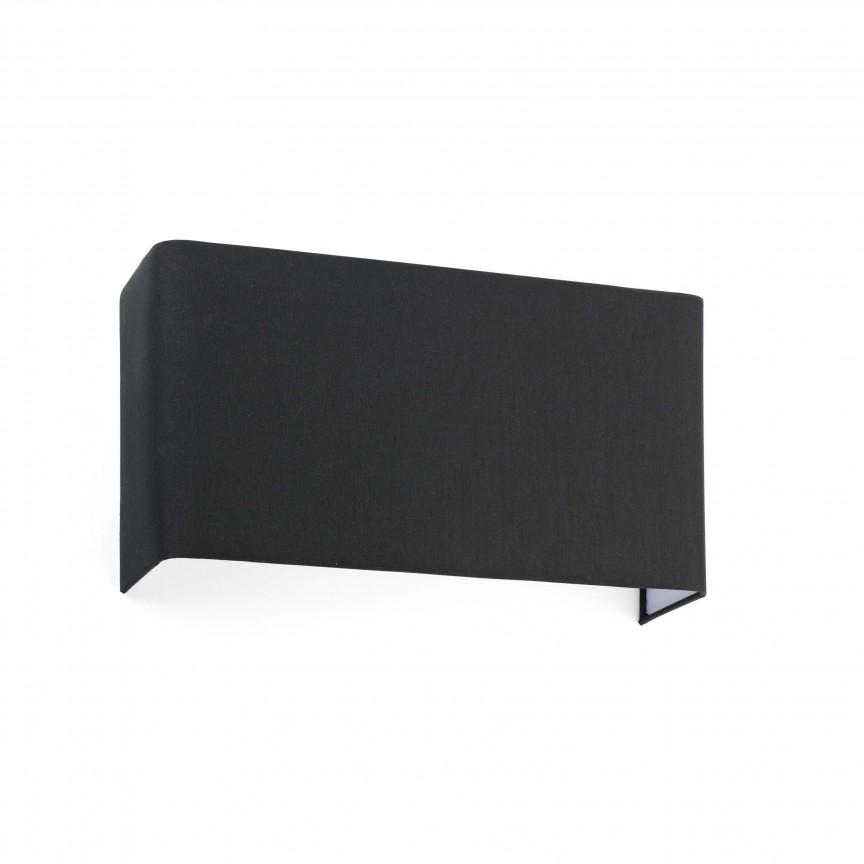 Aplica de perete ambientala design modern COTTON 2L neagra, Aplice de perete moderne,  a