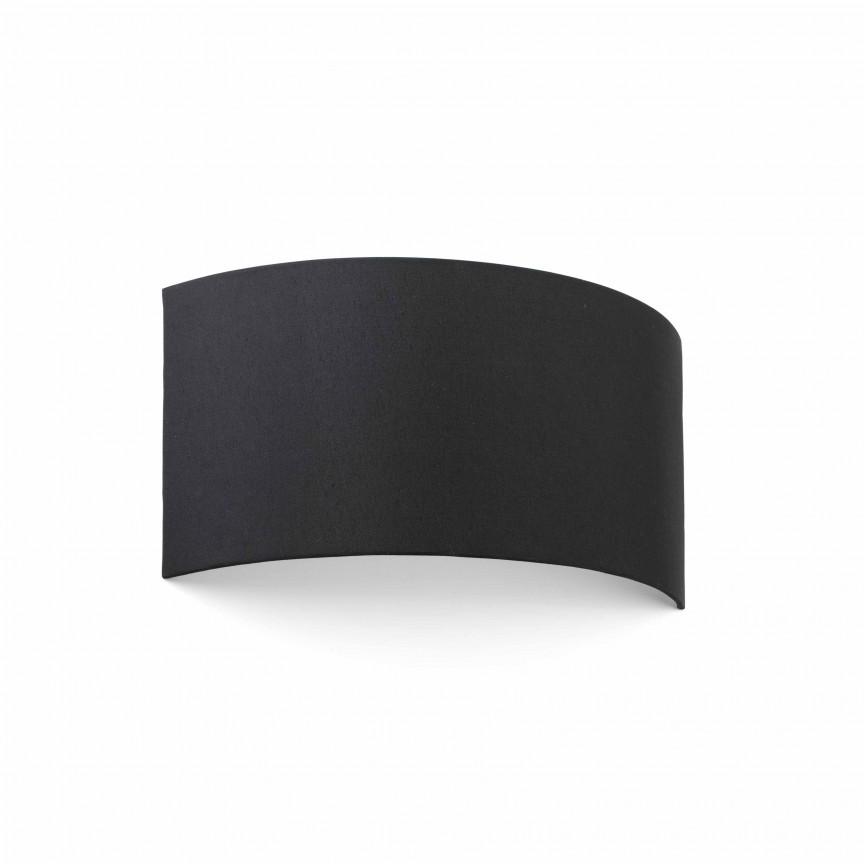 Aplica de perete ambientala design modern COTTON round 2L neagra, Aplice de perete moderne,  a
