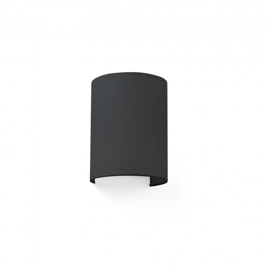 Aplica de perete ambientala design modern COTTON round neagra, Aplice de perete moderne,  a