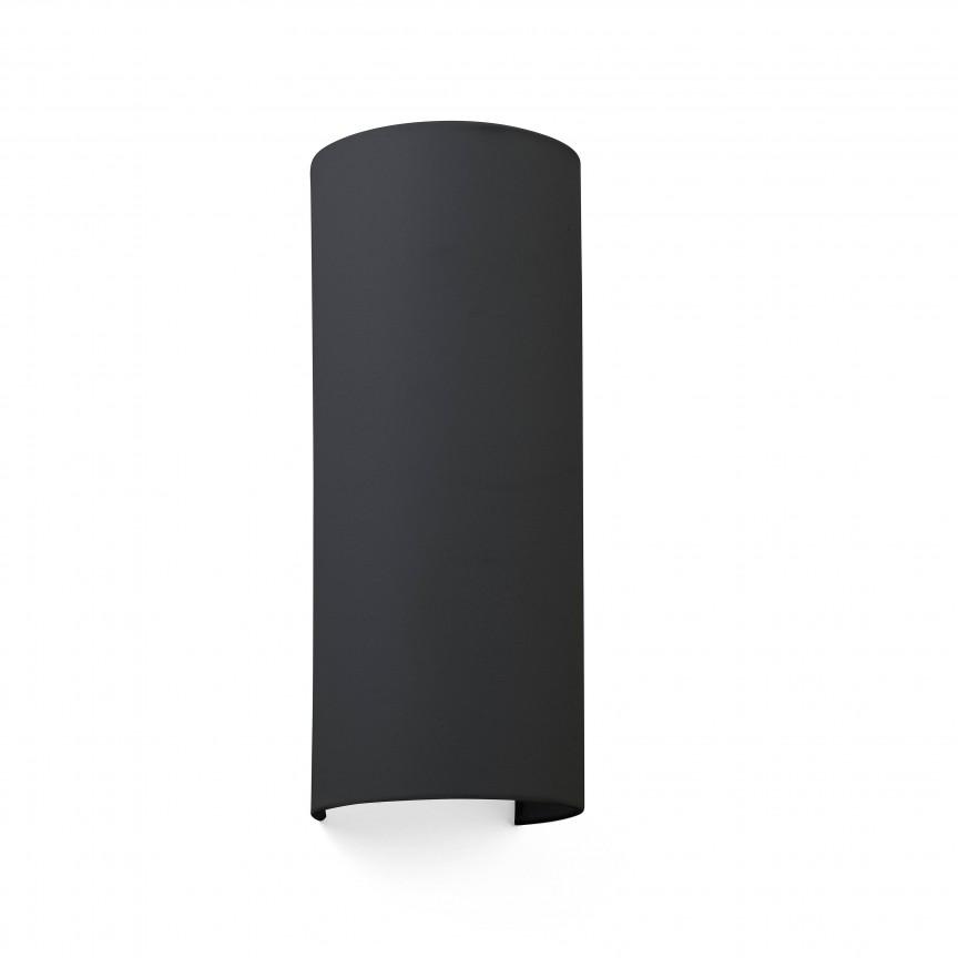 Aplica de perete ambientala design modern COTTON Round 2L neagra , Aplice de perete moderne,  a