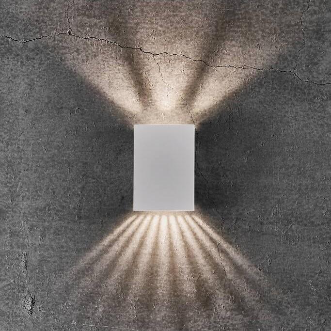 Aplica LED exterior cu iluminat up&down IP54 Fold 10 alb 2019041001 NL, Aplice de exterior moderne ,  a
