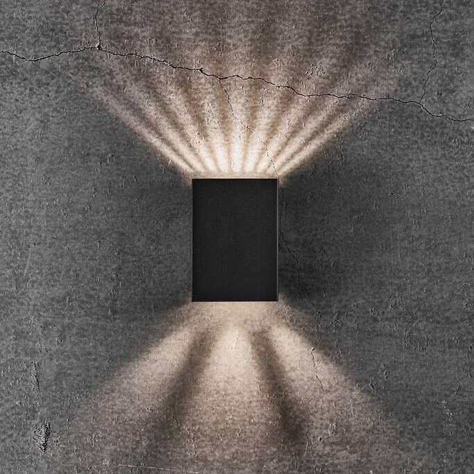 Aplica LED exterior cu iluminat up&down IP54 Fold 10 negru 2019041003 NL, ILUMINAT EXTERIOR,  a
