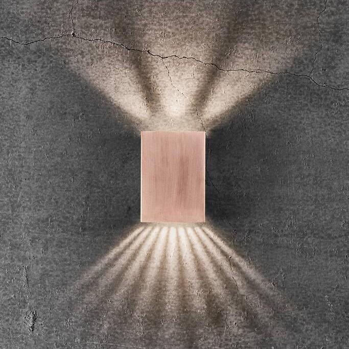 Aplica LED exterior cu iluminat up&down IP54 Fold 10 cupru 2019041030 NL, ILUMINAT EXTERIOR,  a