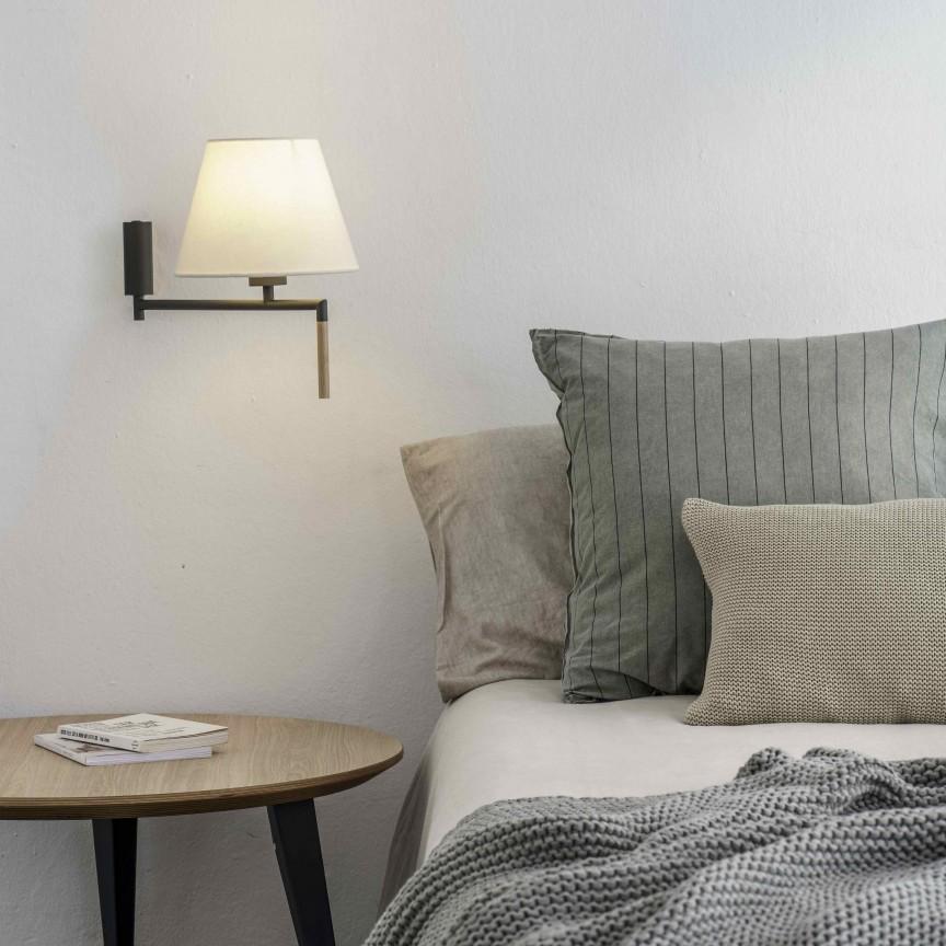 Aplica moderna directionabila design elegant RON gri inchis/bej, Aplice de perete moderne,  a