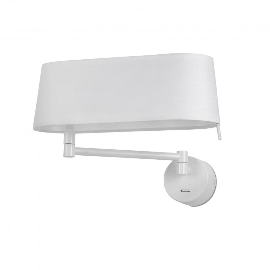 Aplica LED moderna directionabila design elegant DESLIZ alba, ILUMINAT INTERIOR LED ,  a