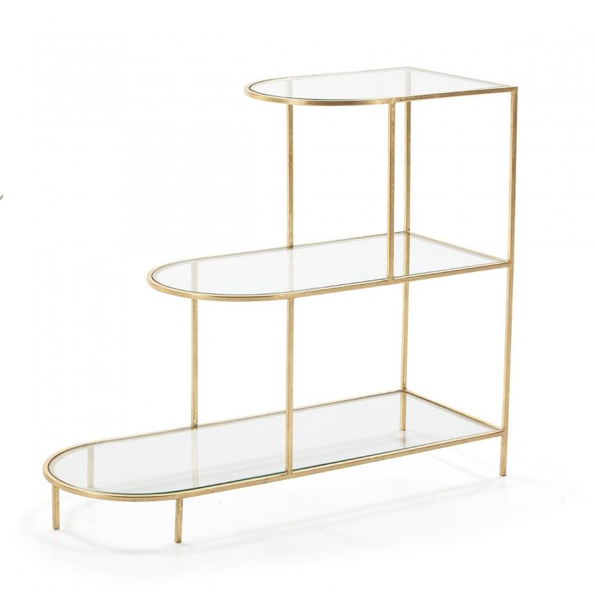 Raft din metal design elegant Golden, H-90cm 69558/00 TN, Mobila si Decoratiuni,  a