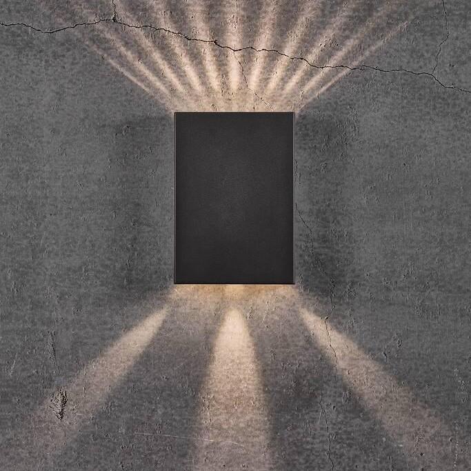 Aplica LED exterior cu iluminat up&down IP54 Fold 15 negru 2019051003 NL, ILUMINAT EXTERIOR,  a