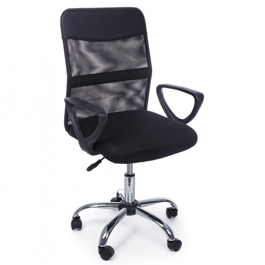 Scaun de birou pivotant NAIROBI negru 5710198 BZ, Scaune de birou,  a