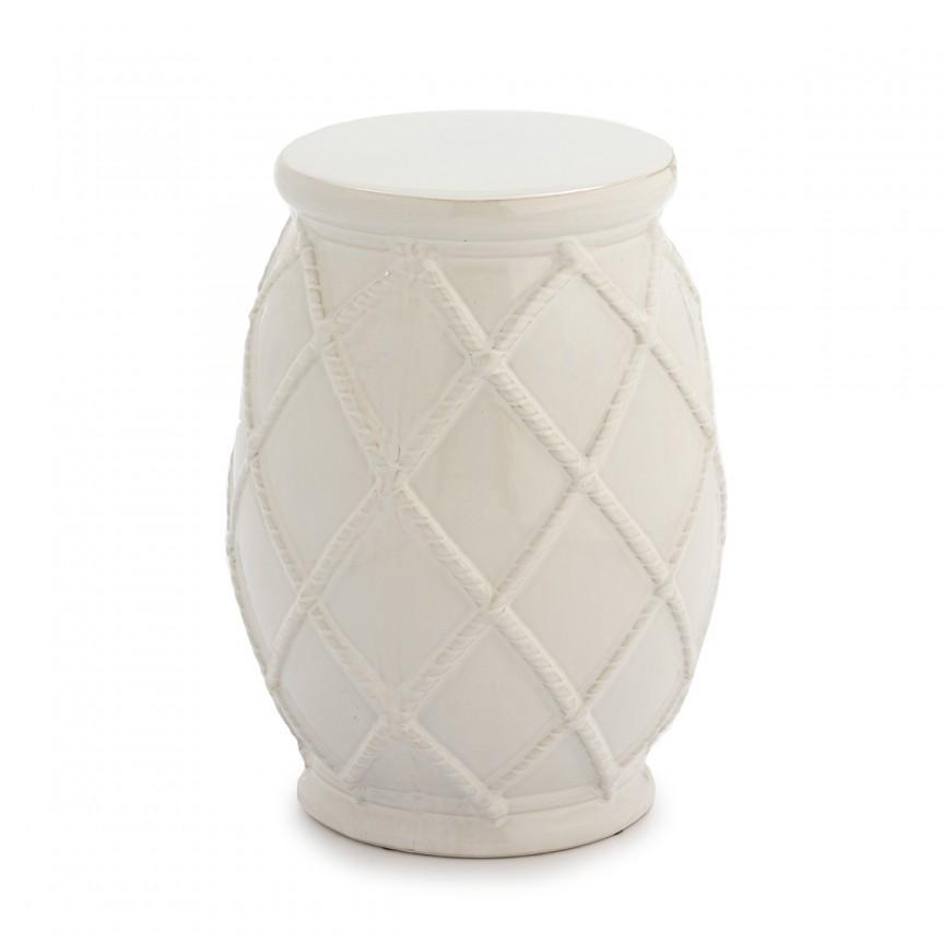 Taburete ceramic design modern Jeanie, alb 21056/00 TN, Cele mai noi produse 2020 a