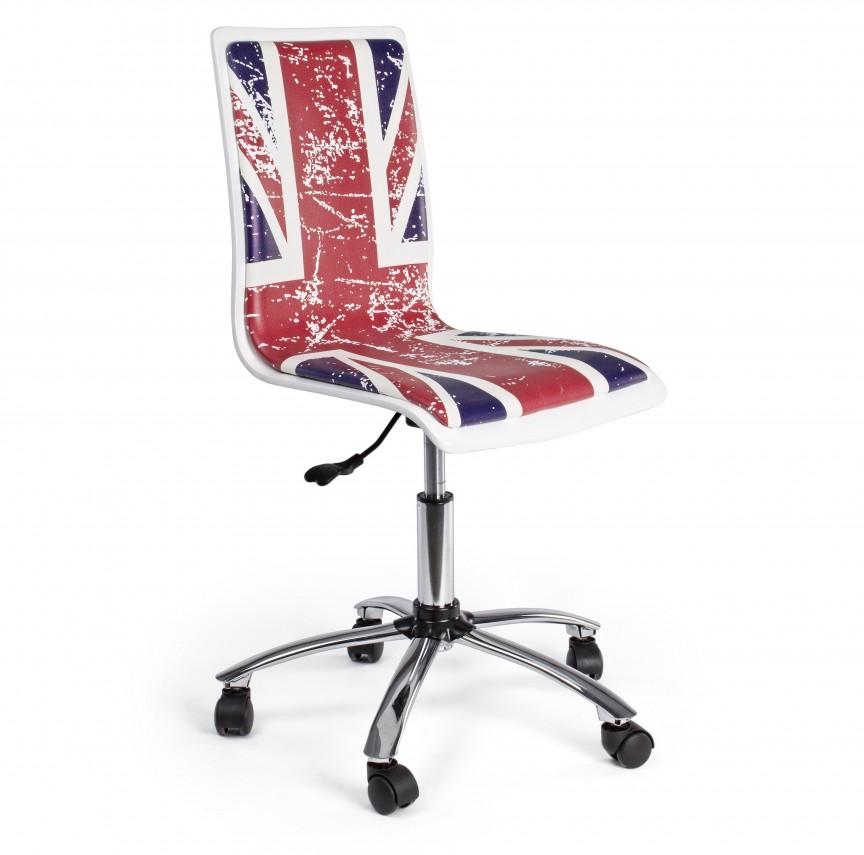 Scaun de birou copii/tineret YOUNG BRITISH 0710114 BZ, Scaune de birou,  a
